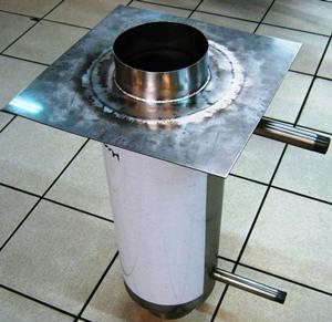Бак для бани из нержавейки под теплообменник Кожухотрубный жидкостный ресивер ONDA RL-V 30 Елец
